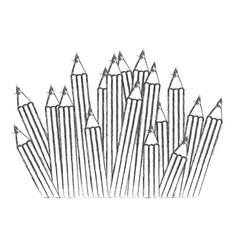 Contour pencils color icon vector