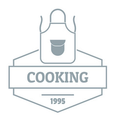 cooking logo simple gray style vector image