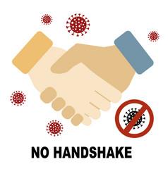 Coronavirus covid19-19 no handshake concept vector