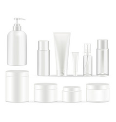 cosmetic bottles packaging set vector image