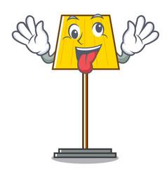 Crazy floor lamp mascot cartoon vector