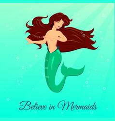 Dancing mermaid princess vector