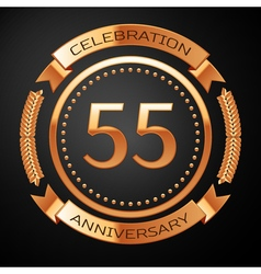 Fifty five years anniversary celebration with vector