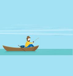 flat fishman vector image