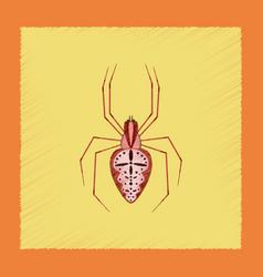 Flat shading style spider araneus vector