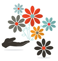 Flowers In Hand vector image
