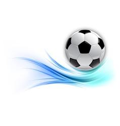 Football on abstract shape smoke blue vector