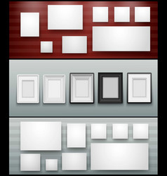 frame banner for facebook poster design vector image