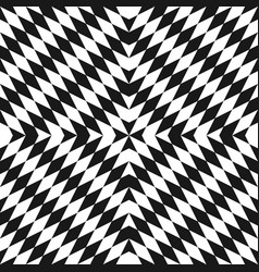 geometric monochrome seamless pattern optical art vector image