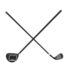 Golf club icon vector