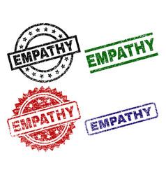 Grunge textured empathy stamp seals vector