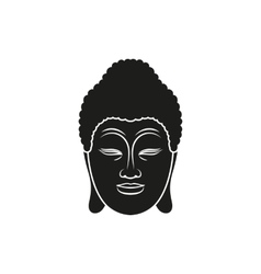 Head of Buddha vector image