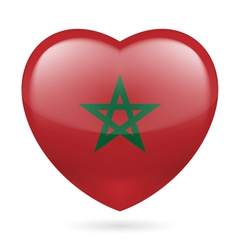 Heart icon of Morocco vector image