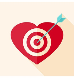 Heart target with arrow vector image