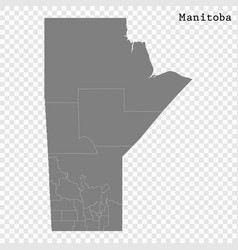 high quality map province canada vector image