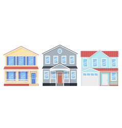 House front exterior home building vector