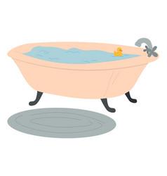 Image a full water bathtub duckling vector