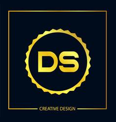 Initial letter ds logo template design vector