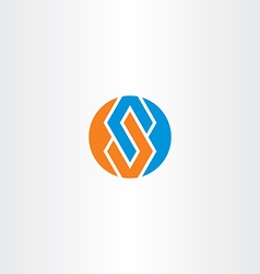 letter s blue orange logotype circle symbol vector image