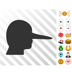 lier icon with bonus vector image
