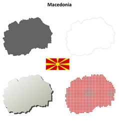 Macedonia outline map set vector image