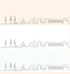Malaga hand drawn skyline vector