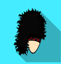 mask with hair for the scotthe scottish national vector image