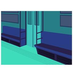 Metro Train Interior vector image
