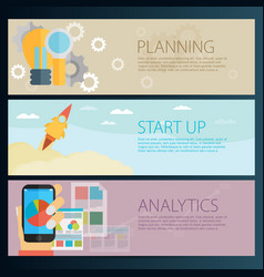 modern business concept in flat design planning vector image