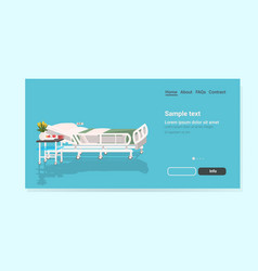 modern clinic intensive therapy empty hospital bed vector image