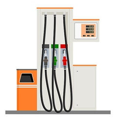 Modern Gas Pump vector