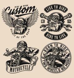 Motorcycle vintage designs set vector
