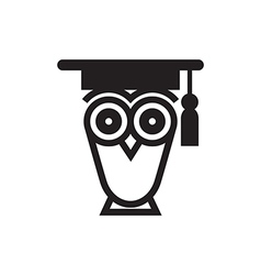 Owl Educational Symbol vector image