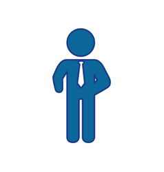 Pictogram businessman icon vector