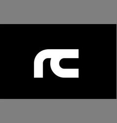 rc r c black white bold joint letter logo vector image