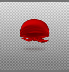 Realistic red bandana headscarf isolated on vector