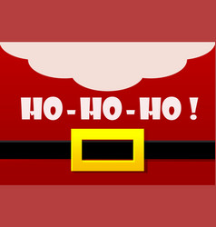Red santa claus costume greeting card ho vector
