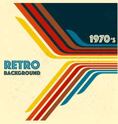 retro lines background vector image