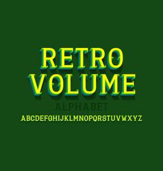 retro volume isolated english alphabet urban 3d vector image