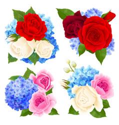 rose bouquet concept icons set vector image