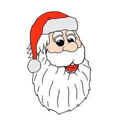 Santa claus face vector