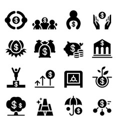 Saving money investment icons vector