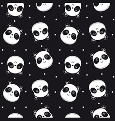 Seamless pattern panda vector
