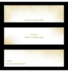 Set Gold Glitter Card and Background vector