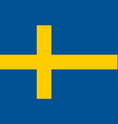 swedish flag flat layout vector image