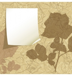 tag on the floral background vector image