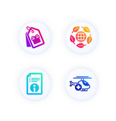Technical info coupons and eco organic icons set vector