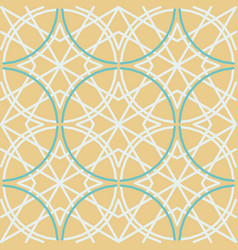 tile pattern 1960 s style green and brown color vector image