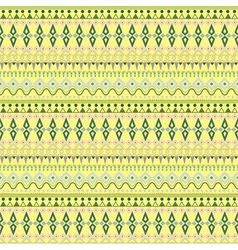 Tribal ethnic seamless stripe pattern on yellow vector