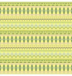 Tribal ethnic seamless stripe pattern on yellow vector image